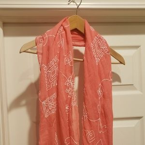 Accessories - Peach and White Infinity Scarf